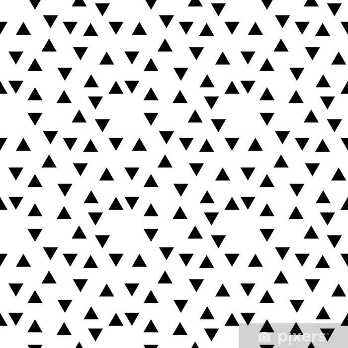 Naklejka Pixerstick Abstrakcyjne geometryczne czarno-białe hipster mody losowy wzór trójkąta - Do sypialni