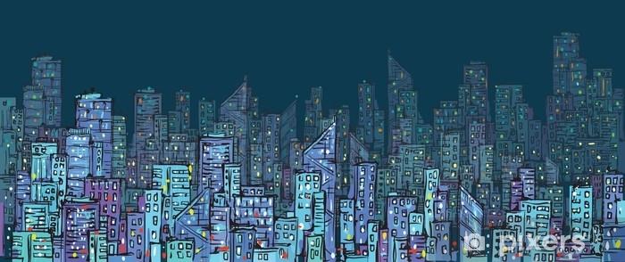 şehir Arka Plan Elle çizilmiş Vektör çizim Duvar Resmi Pixers