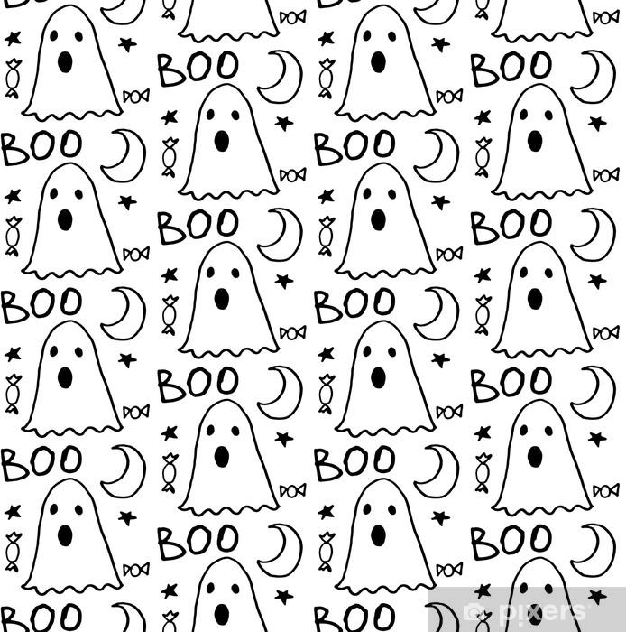 Papier Peint Modèle Sans Couture D Halloween Pour Carte Bannière Modèles D Affiches Symboles Traditionnels Dessinés à La Main éléments De