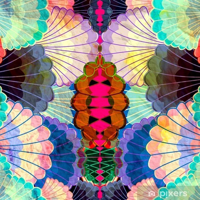 Naklejka Pixerstick Akwarela wielokolorowe elementy abstrakcyjne - Zasoby graficzne