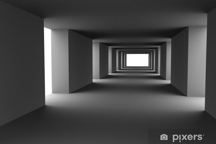 Fototapeta winylowa Tunel zmieniających się jasnych i ciemnych pasów. Hi-Res 3D. - Przeznaczenia