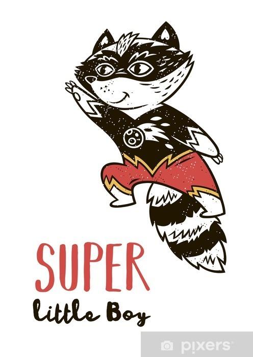 Naklejka Pixerstick Super Hero kota rysunek na kartkę z życzeniami lub wydrukować tee - Hobby i rozrywka