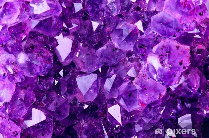 Pixerstick Sticker Heldere violette textuur van natuurlijke amethist - Grafische Bronnen
