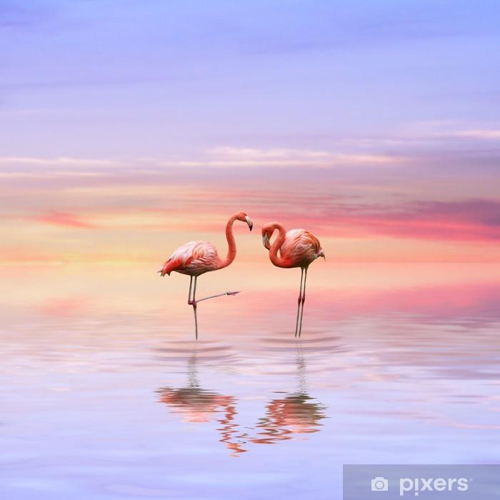 Poster Flamants roses aiment - Thèmes