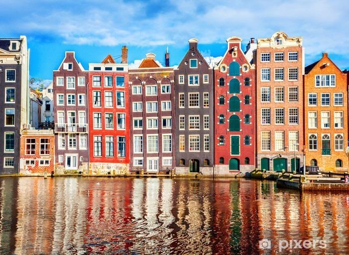 Houses in Amsterdam Vinyl Wall Mural - Travel