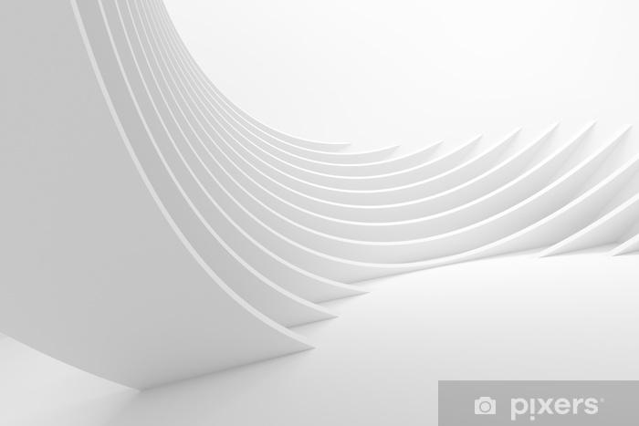 Fototapeta winylowa Biały architektura okrągły tło - Zasoby graficzne