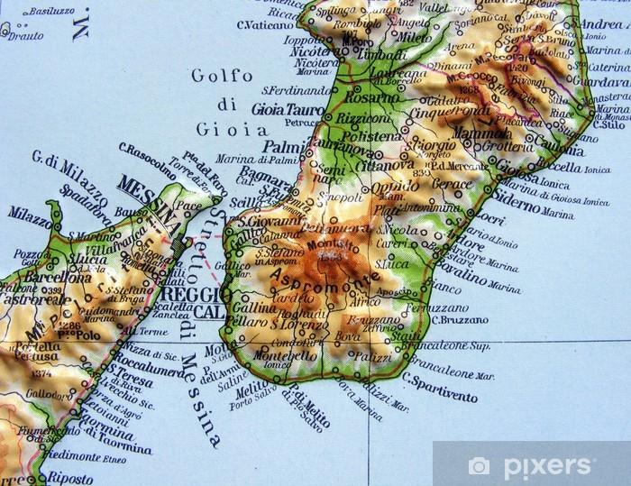 Cartina Geografica Calabria.Adesivo Carta Geografica Della Calabria Pixers Viviamo Per Il Cambiamento
