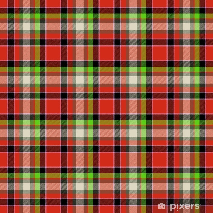 Red and green tartan seamless design pattern Vinyl Wall Mural - Graphic Resources