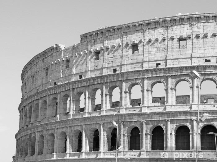 Uitgelezene Fotobehang Zwart-wit foto van de grote Colosseum in Rome in retro VJ-56