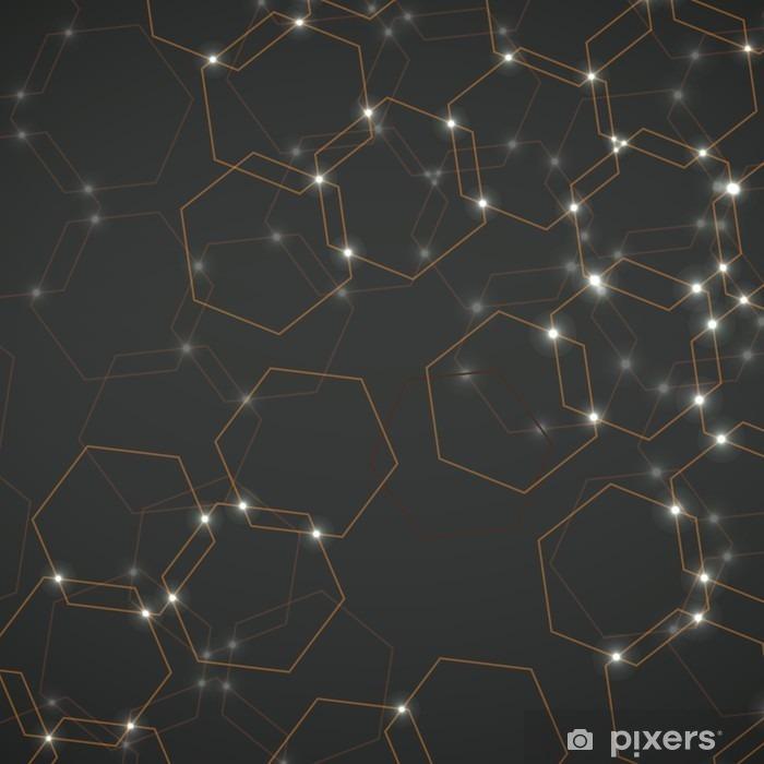 Pixerstick Sticker Abstracte achtergrond van zeshoekige cellen, geometrisch ontwerp vector illustratie eps 10 - Grafische Bronnen