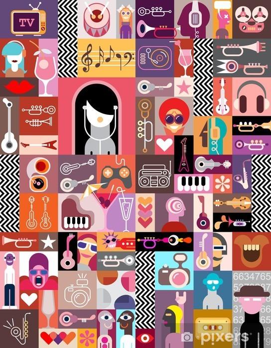 Fotomural Estándar Collage Art / Arte Composición - Gente