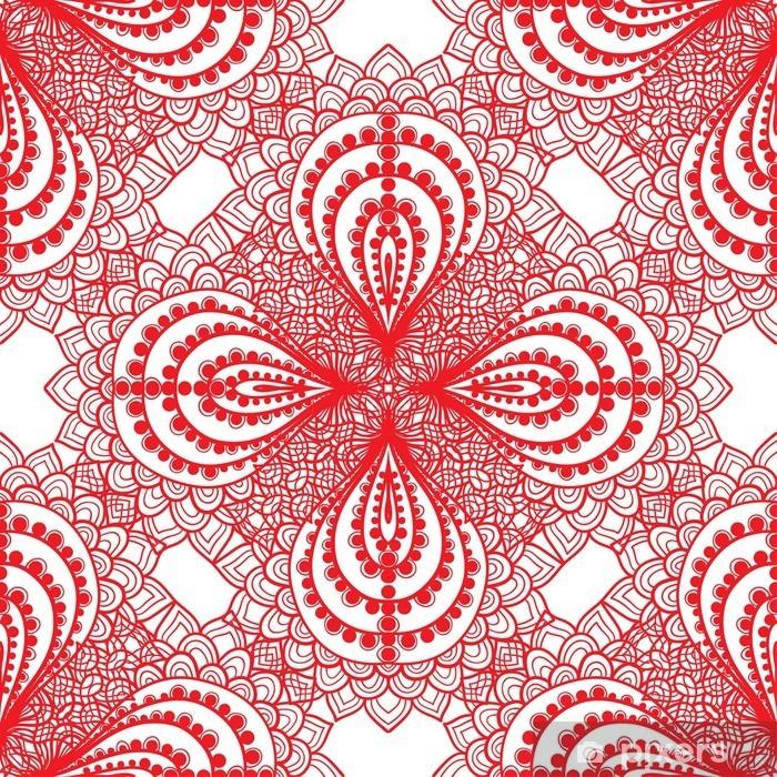 Vinilo para Nevera De fondo sin fisuras ornamento - Recursos gráficos