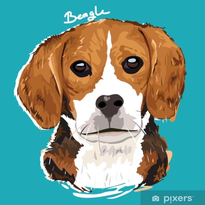 Fototapeta winylowa Plakat malarski beagle - Zwierzęta