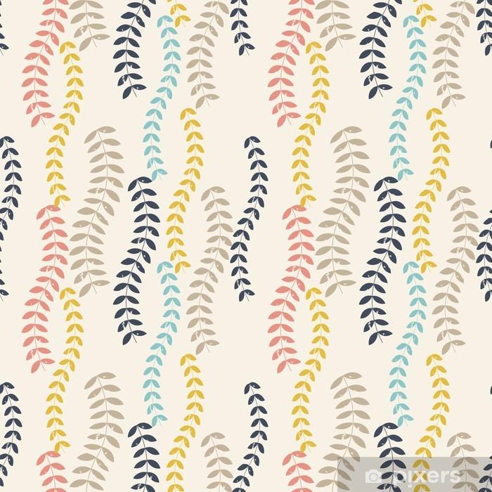 Papier Peint Autocollant Retro leaves pattern. - Plantes et fleurs