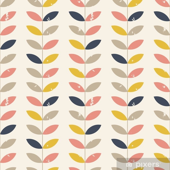 Twigs pattern. Vinyl Wall Mural - Plants and Flowers