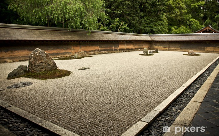 Papier peint vinyle Rock Garden Ryoanji - Kyoto, Japon - Asie