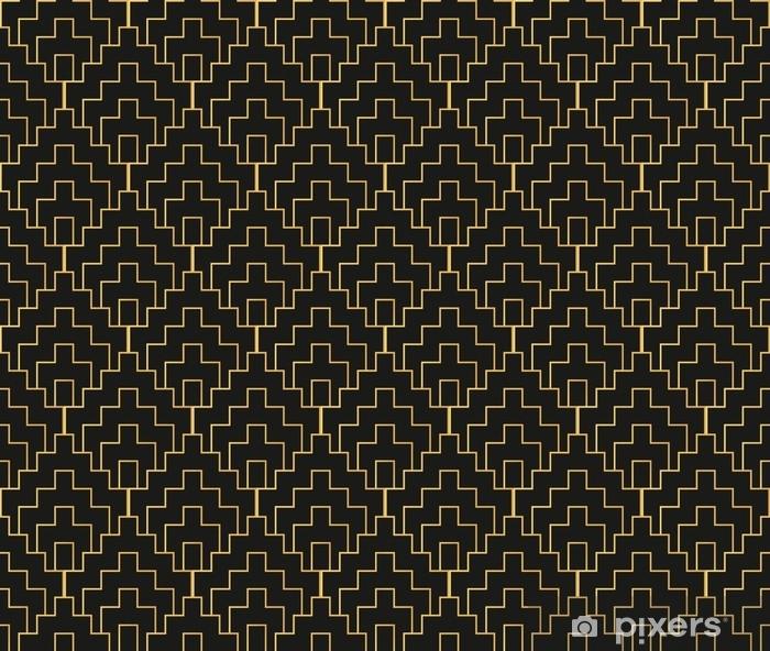 Vinyl-Fototapete Nahtloses Weinlesetapetenmuster Art Deco. geometrische Dekorativ - Grafische Elemente