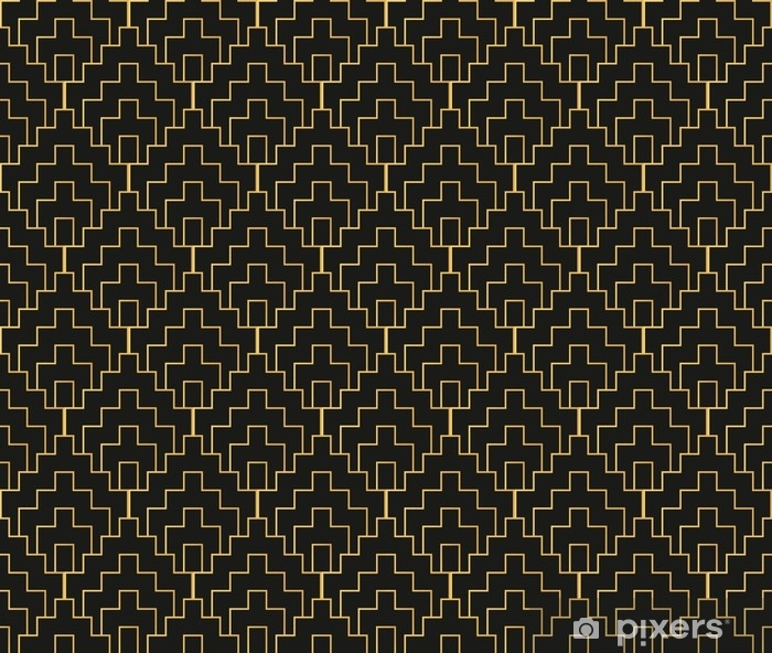 Art Deco seamless vintage wallpaper pattern. Geometric decorativ Vinyl Wall Mural - Graphic Resources