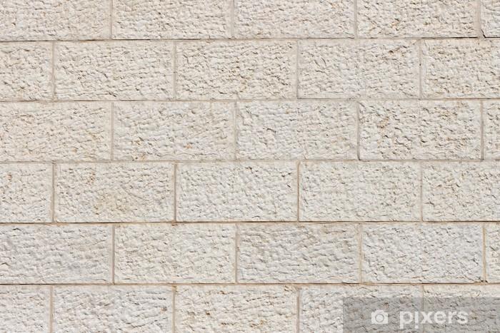 Papier peint vinyle Mur vertical intégré de Jérusalem blocs de pierre - Moyen Orient