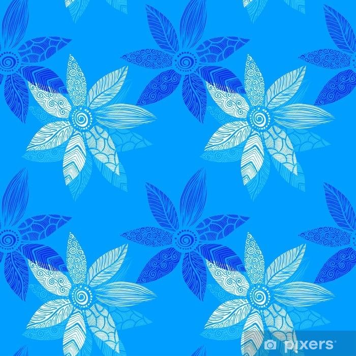 Plakát Květinové bezproblémové pozadí - Grafika
