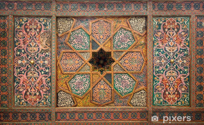 Fototapeta winylowa Drewniany sufit, orientalne ozdoby z Khiva, Uzbekistan - Bliski Wschód