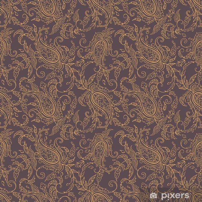 Papier peint lavable Tissu paisley orient seamless - Ressources graphiques
