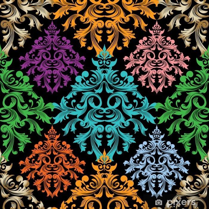 Papier peint vinyle Damassé pattern.Colorful floral vecteur seamless damask baroque pattern.Damask wallpaper.Damask de fond. - Ressources graphiques