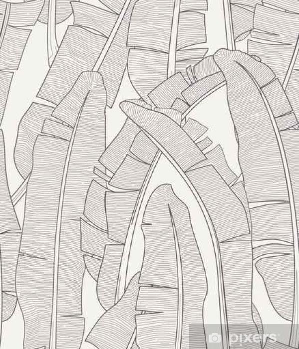 Naklejka Pixerstick Banan Liść Wzór - Zasoby graficzne