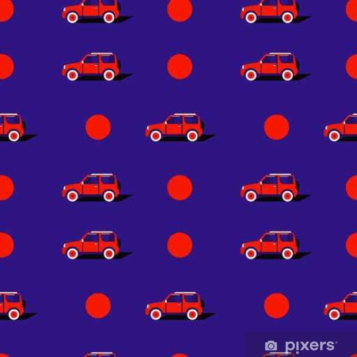 Poster Pop-Art-Muster mit dem Auto. - Transport