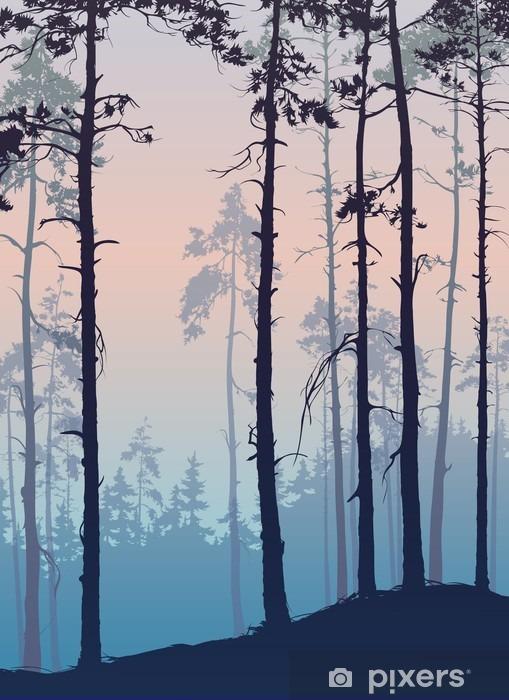 Pixerstick Sticker Pijnboombos - Landschappen