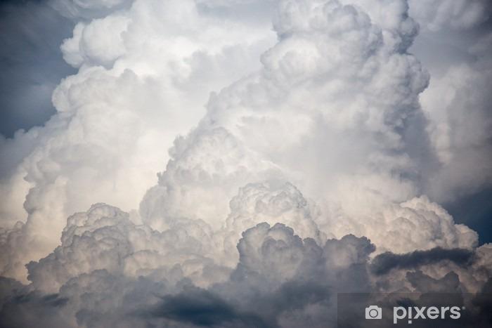 Vinyl Fotobehang Grote wolken storm - Milieu