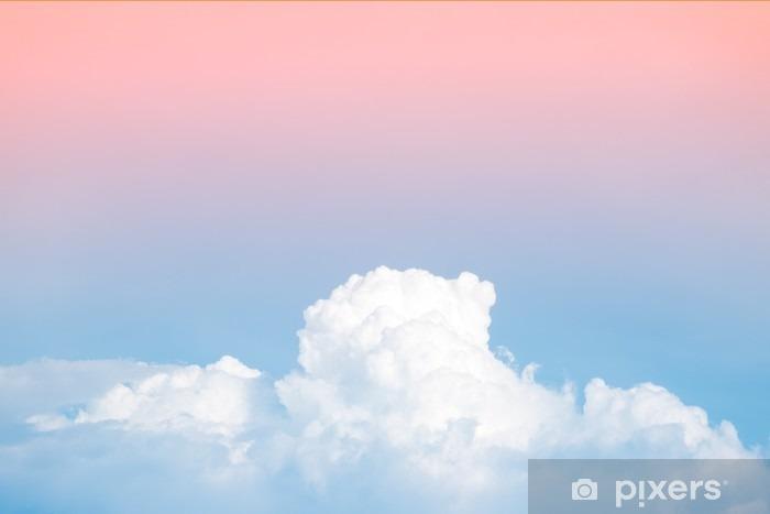 Vinil Duvar Resmi Arka plan kullanımı için degrade pastel bağbozumu renk ile soyut yumuşak gök bulut - Grafik kaynakları