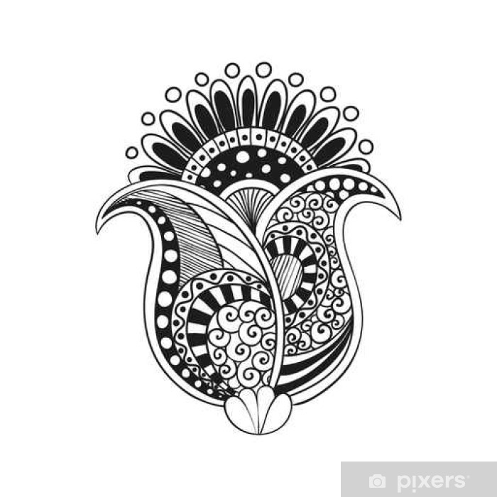 Zentangle Boho Flower Poster Pixers We Live To Change