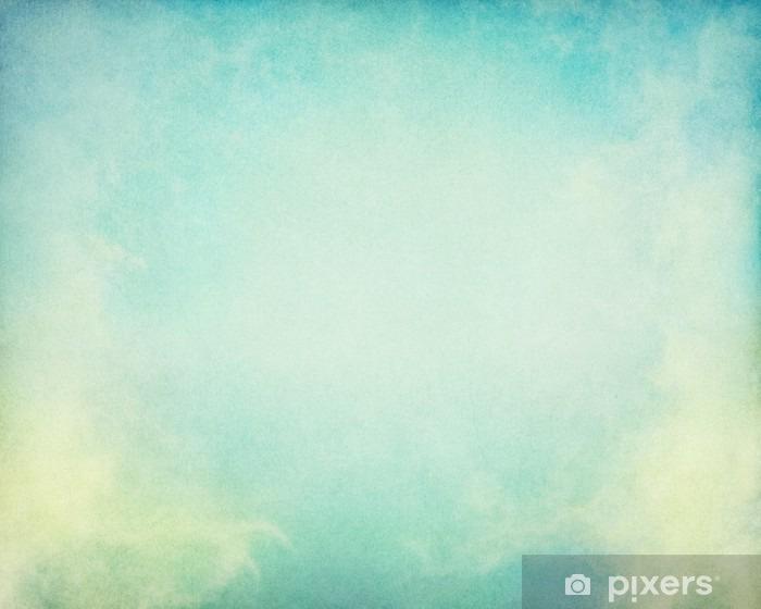Grøn Gul Tåge. Tåge og skyer på en vintage papir baggrund. Billedet viser en behagelig papirkorn og tekstur på 100 procent. Vinyl fototapet - Landskaber