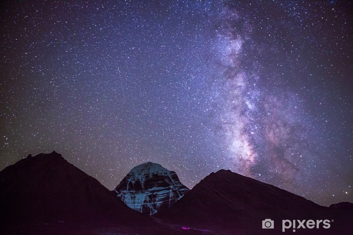 Milkyway on the Mt.Kailash in Tibet Vinyl Wall Mural - Landscapes