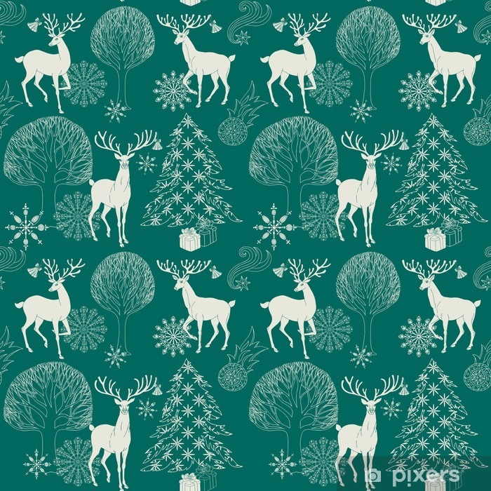 Christmas Pattern.Christmas And New Year Blue Festive Background Xmas Pattern Lack Table Veneer