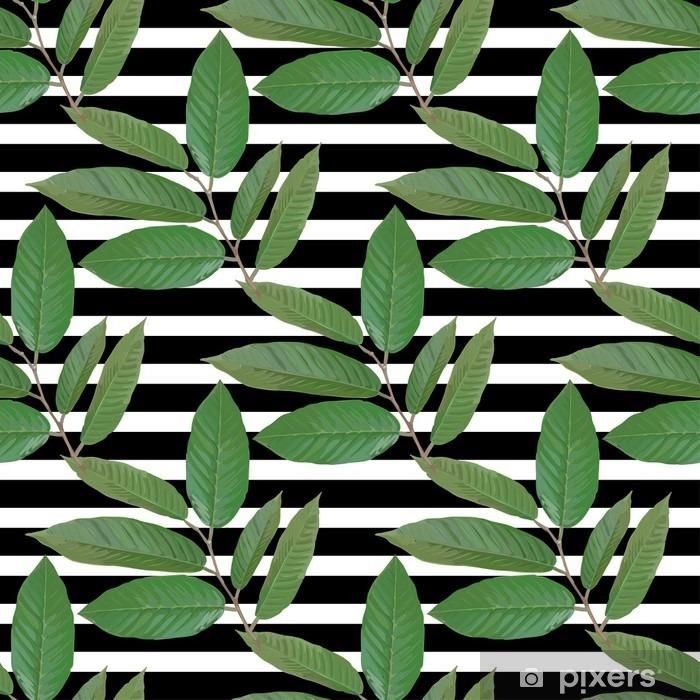 Fotomural Estándar Rama realista con las hojas tropicales. Ilustración del vector EPS - Plantas y flores