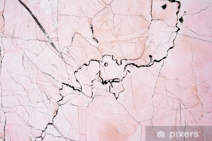 Pixerstick-klistremerke Rosa lys marmor stein tekstur bakgrunn. Vakker rosa marmor - Grafiske Ressurser