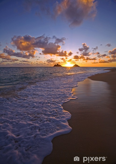 Vinyl Fotobehang Pacific zonsopgang op Lanikai strand in Hawaï - Thema's
