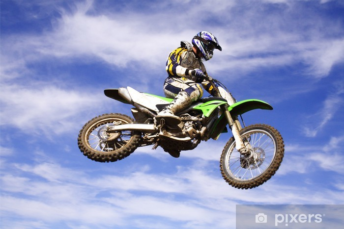 Fotomural Estándar Moto cross salto - Deportes extremos