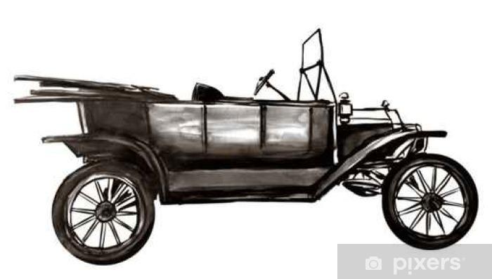 Papier peint vinyle Très vieille voiture - Transports