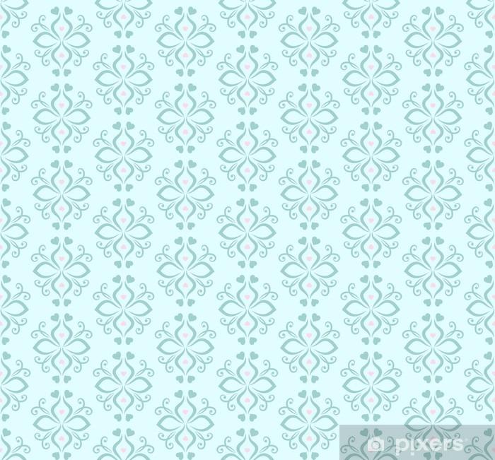 Fototapeta winylowa Niebieski kwiatowy ornament. Szwu. Zabytkowe. Luksusowe tekstury tapety i tła. ilustracji wektorowych. - Zasoby graficzne