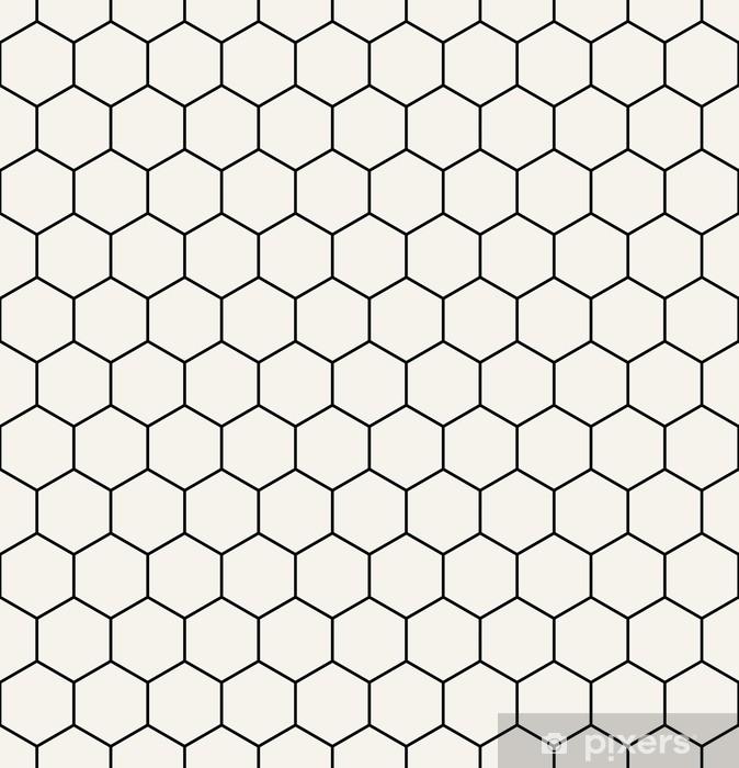 d970e881 Hexagon geometrisk sort og hvidt grafisk mønster Vinyl fototapet - Grafiske  Ressourcer