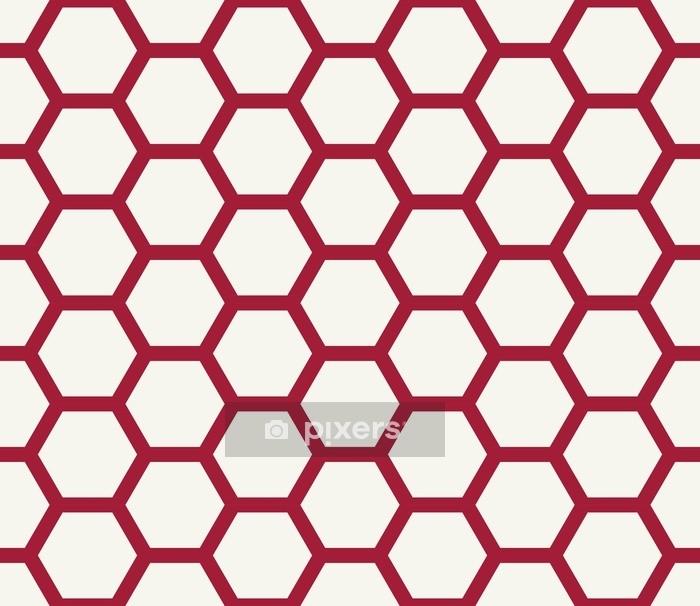 Bettbezug Abstraktes geometrisches rotes und weißes Grafikdesign deco Muster - Grafische Elemente
