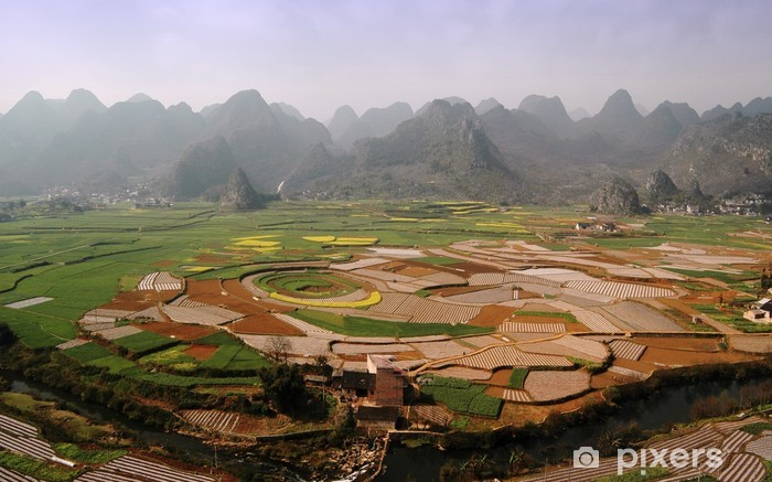 In south of china,basin in the mountains Pixerstick Sticker - Asia