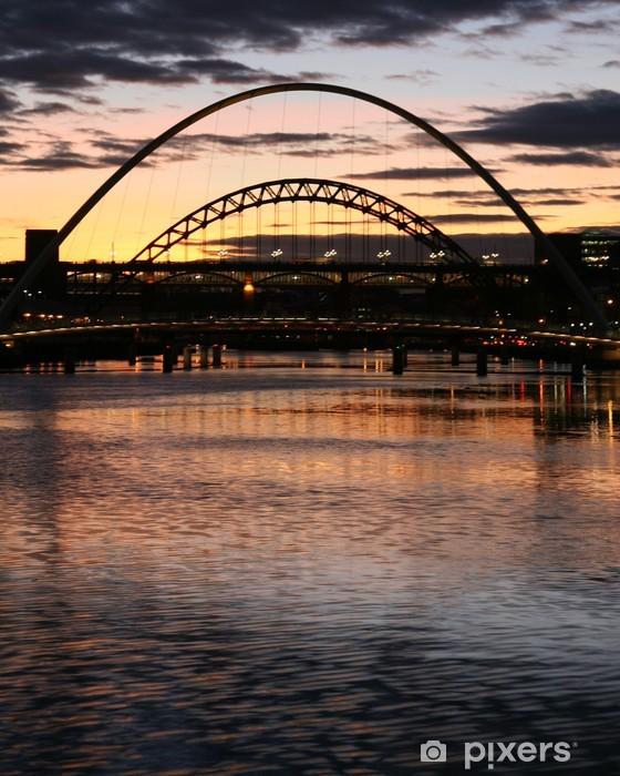 Naklejka Pixerstick Refleksje nad rzeką Tyne - Wakacje