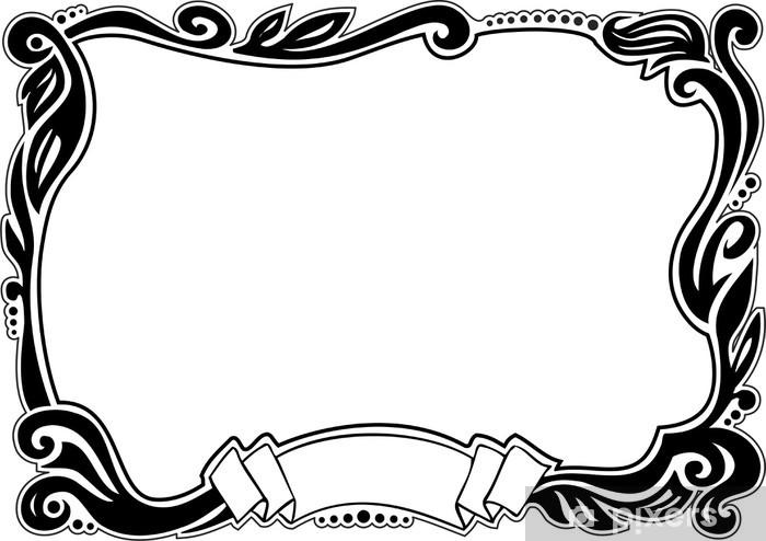 Fototapeta Winylowa Obramowania Ozdobne Element Projektu Ilustracji Wektorowych