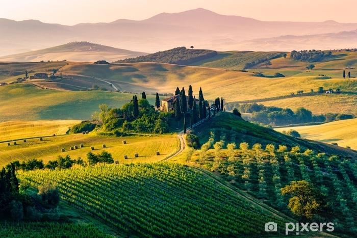 Naklejka Pixerstick Toskania, Włochy. krajobraz - Krajobrazy