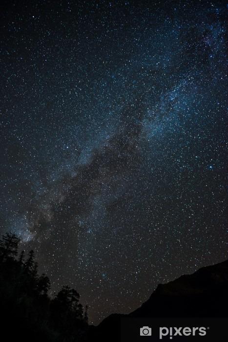 Fotomural Estándar Vía láctea con vistas a la montaña - Paisajes