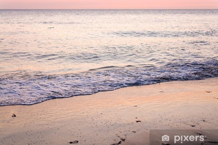 Vinyl Fotobehang Coucher de soleil sur la plage - Landschappen